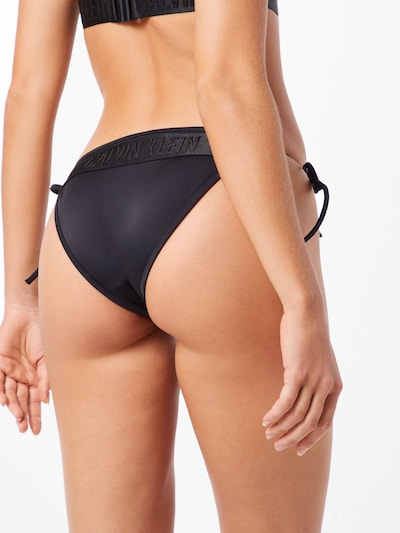 Calvin Klein Swimwear Bikinihose in schwarz: Rückansicht