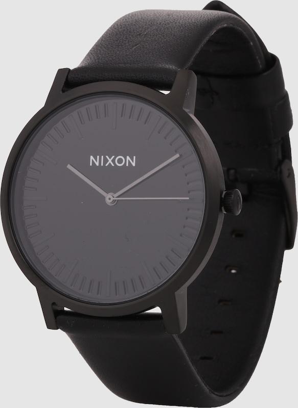 Nixon Armbanduhr 'Porter Leather' (Gehäusedurchmesser: 40mm)