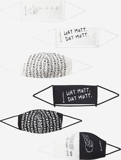 recolution Masque en tissu en noir / blanc, Vue avec produit
