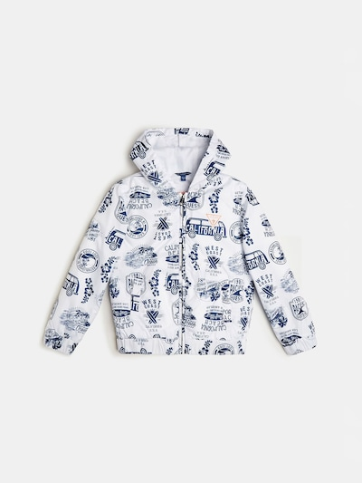 GUESS KIDS Jacke in blau / weiß, Produktansicht
