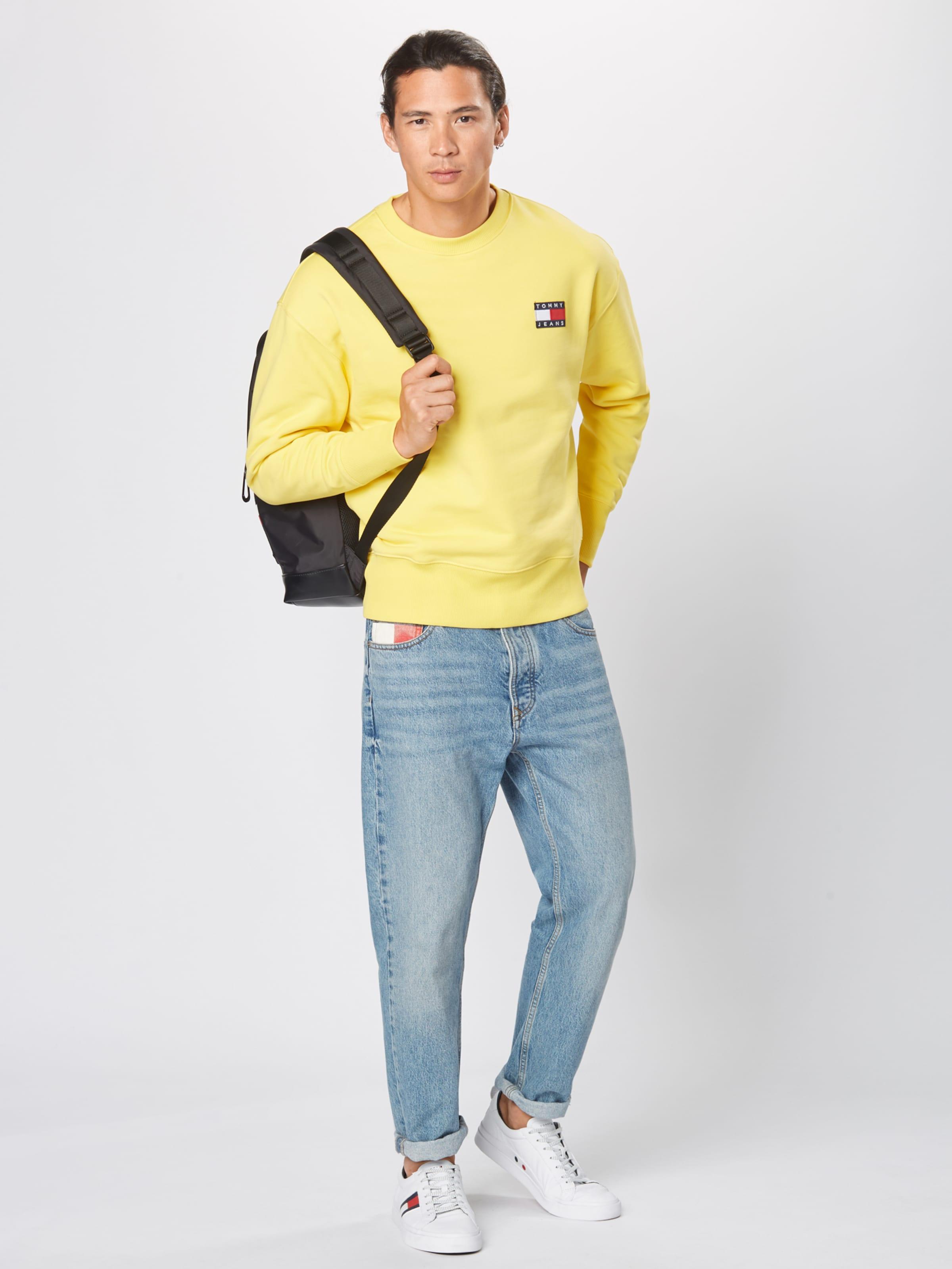 Sweatshirt In Tommy Jeans Gelb OXukTPiZ