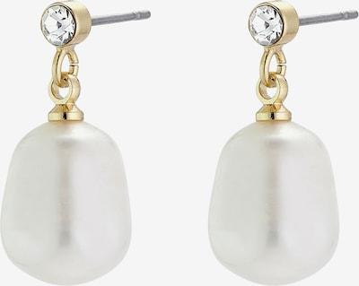 Pilgrim Kolczyki 'Urd' w kolorze złoty / perłowo białym, Podgląd produktu