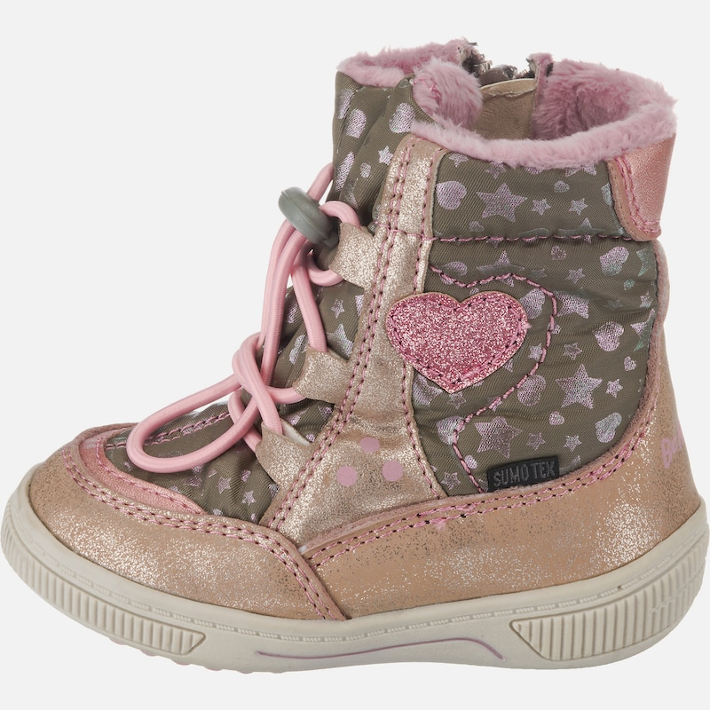 Be Mega Winterstiefel in rosegold khaki rosa   ABOUT YOU