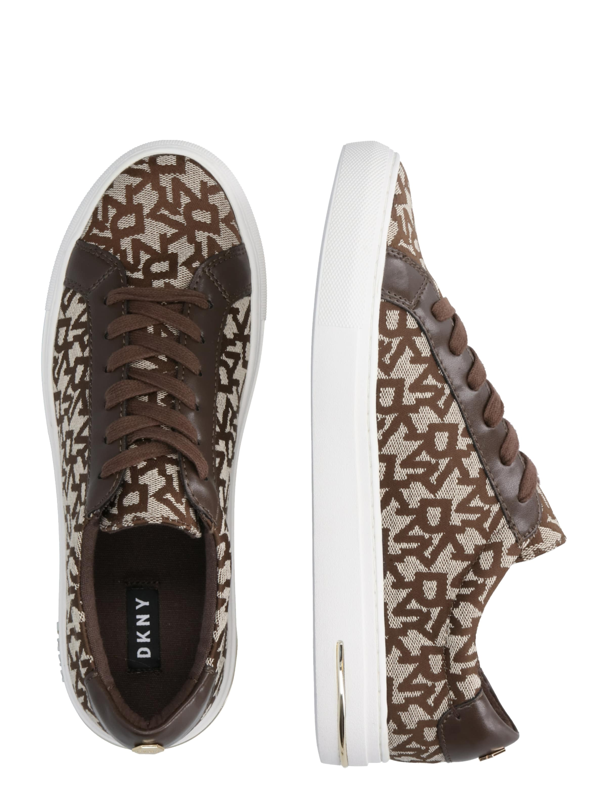 DknyBaskets Basses In 'court lace Marron Up' 2EYWH9ID