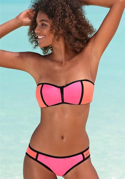BENCH Bandeau–Bikini in koralle / pink: Frontalansicht