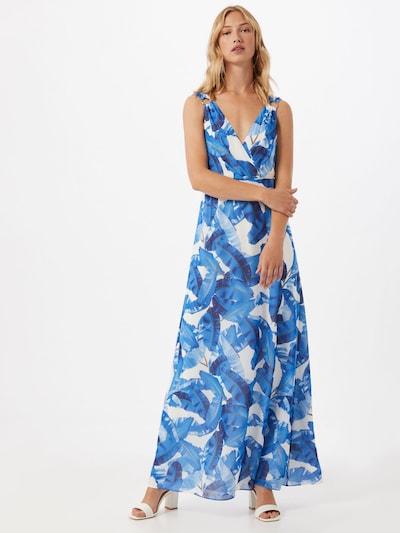 COMMA Kleid in blau / braun / mischfarben / weiß, Modelansicht