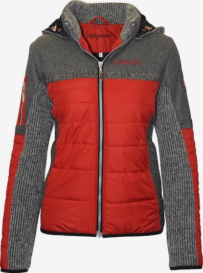 Almgwand Jacke 'Nordhorn' in graumeliert / rot, Produktansicht