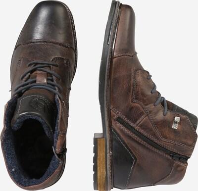 bugatti Bottines à lacets en taupe: Vue de profil