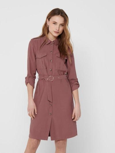 ONLY Blusenkleid 'ONLACACIA-ARIS SHIRT DRESS PNT' in melone, Modelansicht