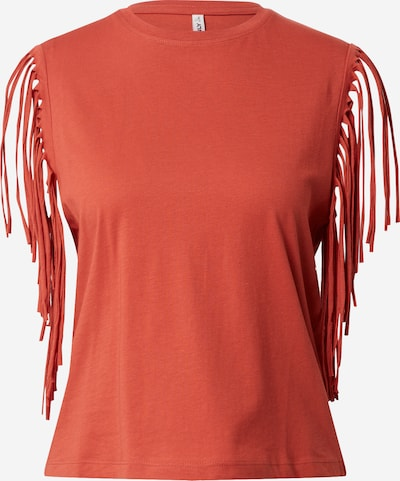 ONLY Topp 'ONLFRINGES LIFE S/S O-NECK TOP CS JRS' roostepunane, Tootevaade