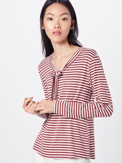 Marškinėliai 'Mariam' iš ABOUT YOU , spalva - ruda / balta: Vaizdas iš priekio