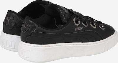 PUMA Sneaker 'Platform Kiss' in schwarz / weiß: Rückansicht