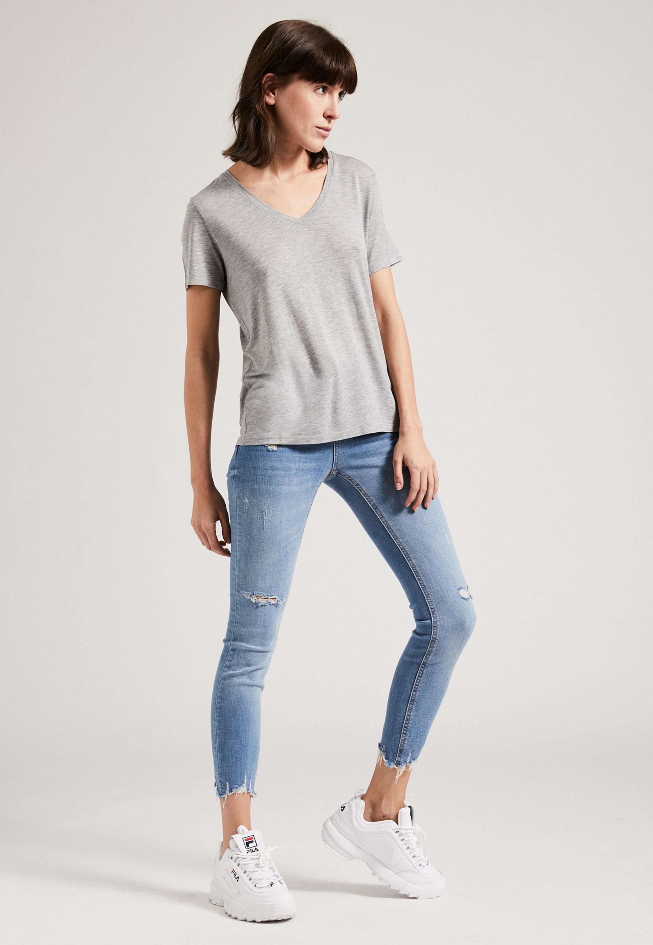 Phyne shirt V The In Weiß neck T Tencel u1clK5JFT3