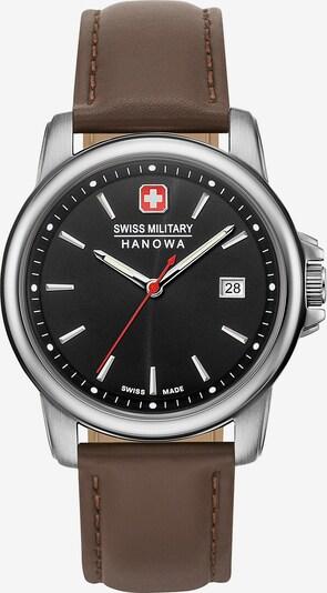 SWISS MILITARY HANOWA Uhr in braun / schwarz / silber, Produktansicht