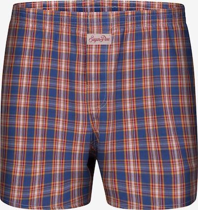 Sugar Pine Boxershorts 'Classic Check' in blau / orange, Produktansicht