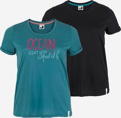 OCEAN SPORTSWEAR Shirt 2er Pack in petrol / schwarz, Produktansicht