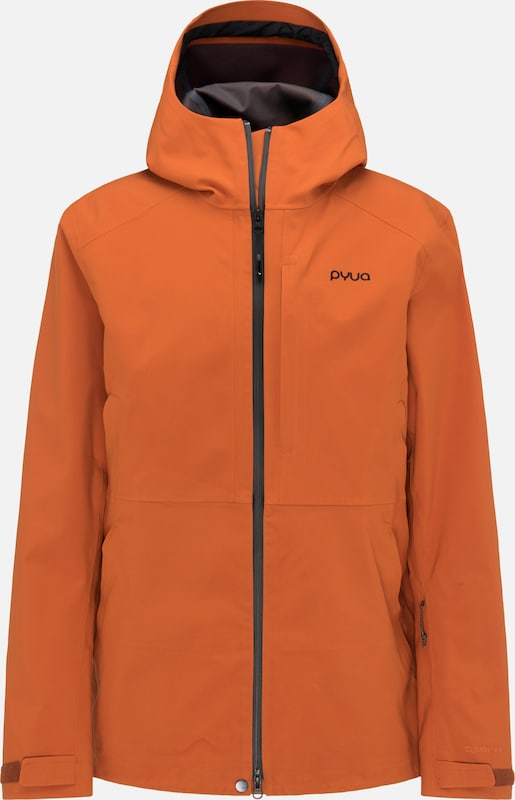 PYUA Skijacke 'Excite' in orange, Produktansicht
