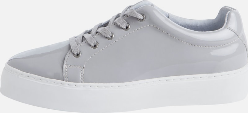 PIECES Graue Leder-Sneaker