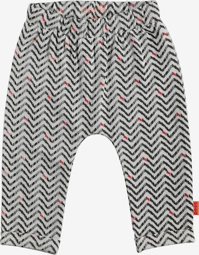 BESS Softbundhose in basaltgrau / rot / weiß, Produktansicht