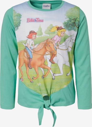 Bibi und Tina Langarmshirt in jade / mischfarben, Produktansicht