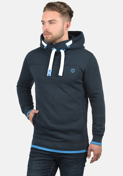 !Solid Hoodie 'Benjamin Hood' in blau: Frontalansicht