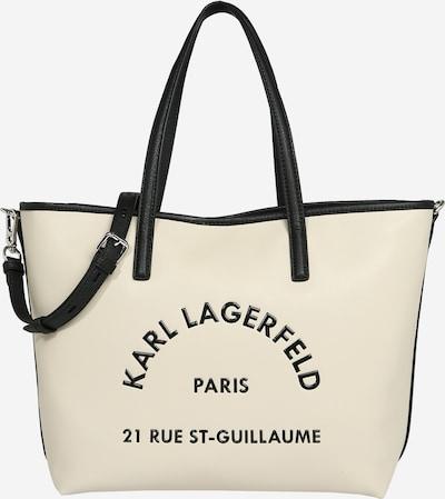 Pirkinių krepšys iš Karl Lagerfeld , spalva - kremo / juoda, Prekių apžvalga