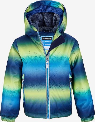 KILLTEC Jacke in blau / neongrün, Produktansicht
