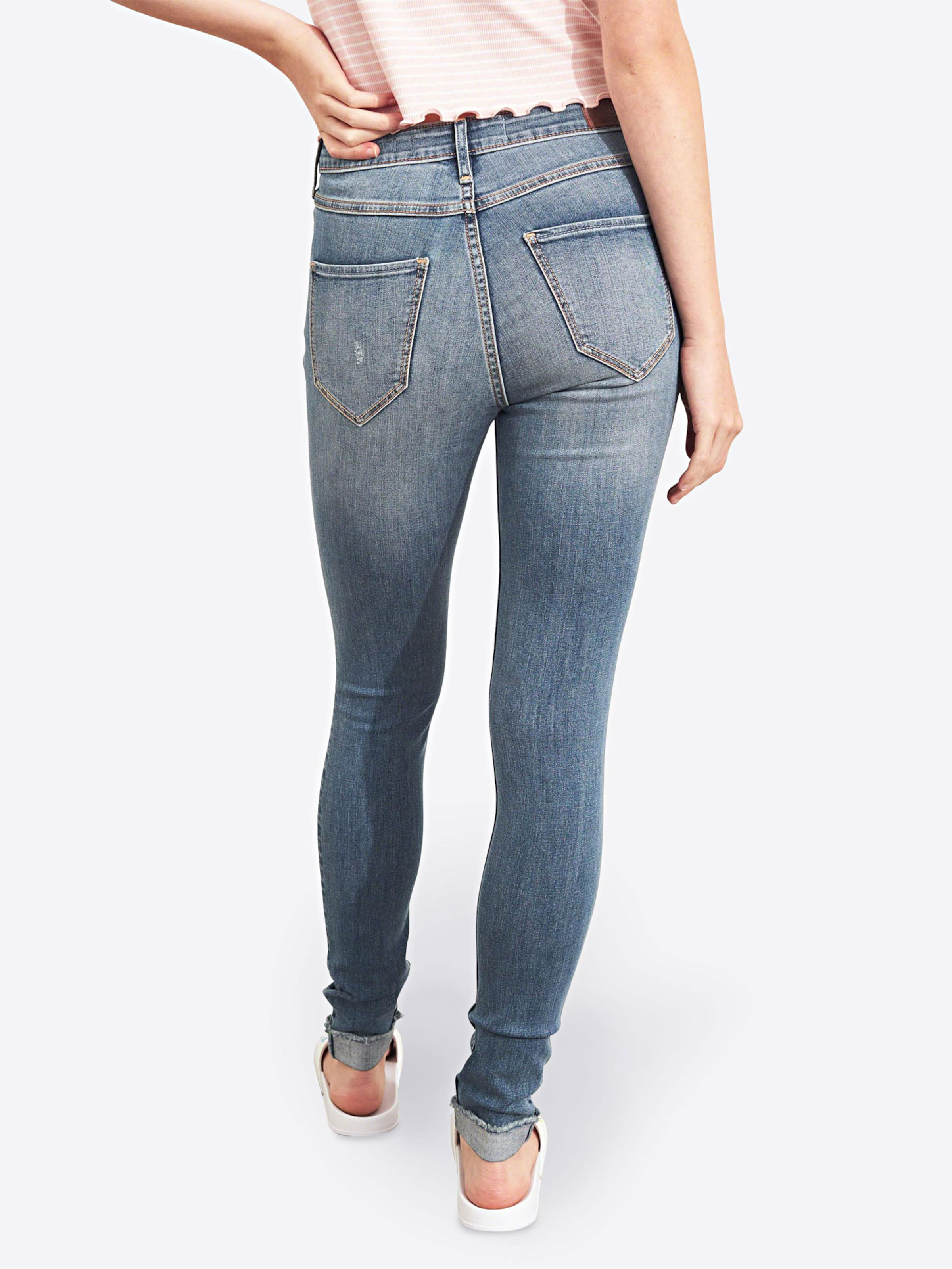 Jeans In Cuff' Blue Denim Hollister 'fray WYEH2D9I