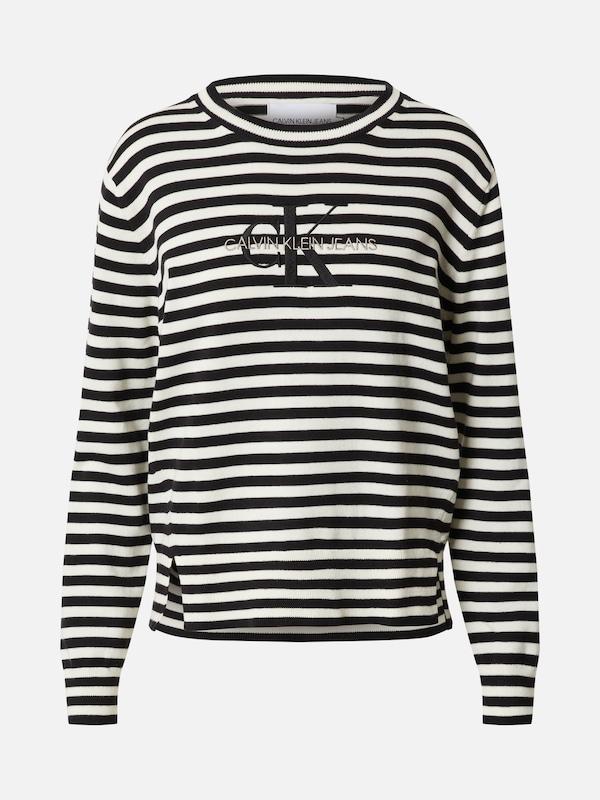 Calvin Klein Jeans Pullover in schwarz / weiß | ABOUT YOU