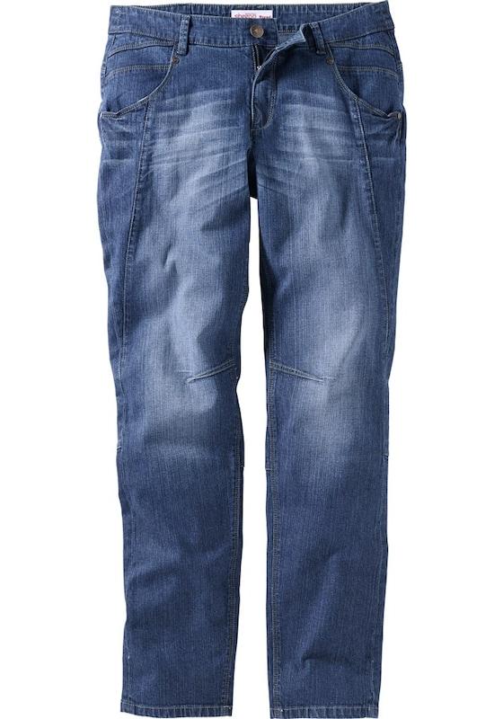 sheego denim jeans die schmale in blau about you. Black Bedroom Furniture Sets. Home Design Ideas