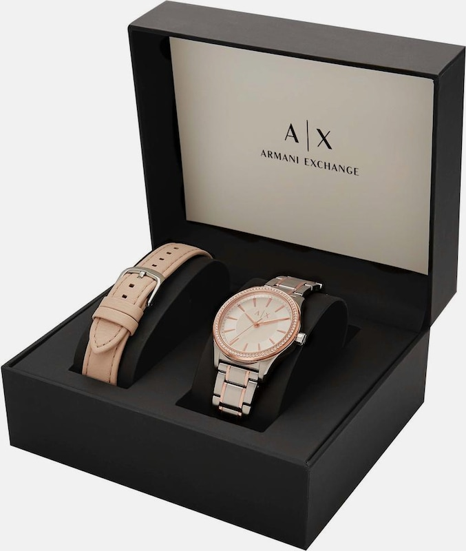 ARMANI EXCHANGE Quarzuhr 'AX7103' (Set, 2 tlg.)