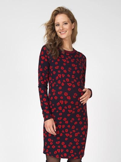 Supermom Jurk 'Poppy' in de kleur Nachtblauw / Rood: Vooraanzicht