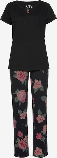 VIVANCE Pyjama in mischfarben / schwarz, Produktansicht