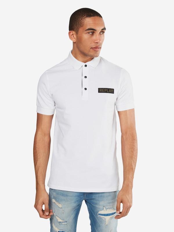 REPLAY Poloshirt mit Marken-Badge