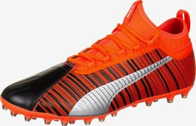 PUMA Chaussure de foot en rouge clair / noir / argent, Vue avec produit