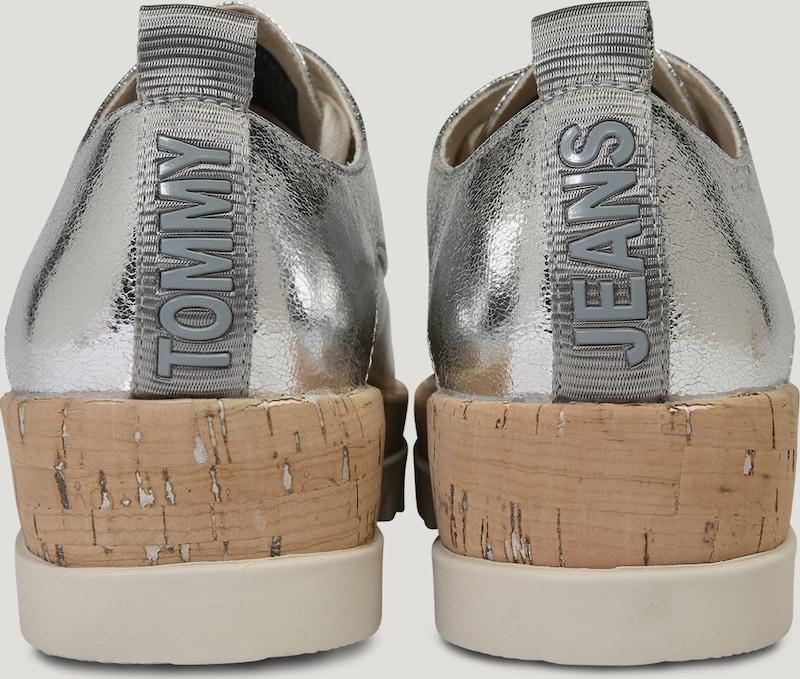 Tommy Jeans METALLIC | Plateauschuhe  METALLIC Jeans  mit Schnürung b138f7
