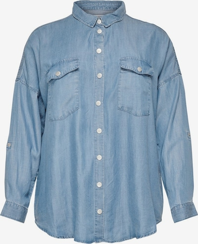 ONLY Carmakoma Curvy Oversize Hemd in blau, Produktansicht