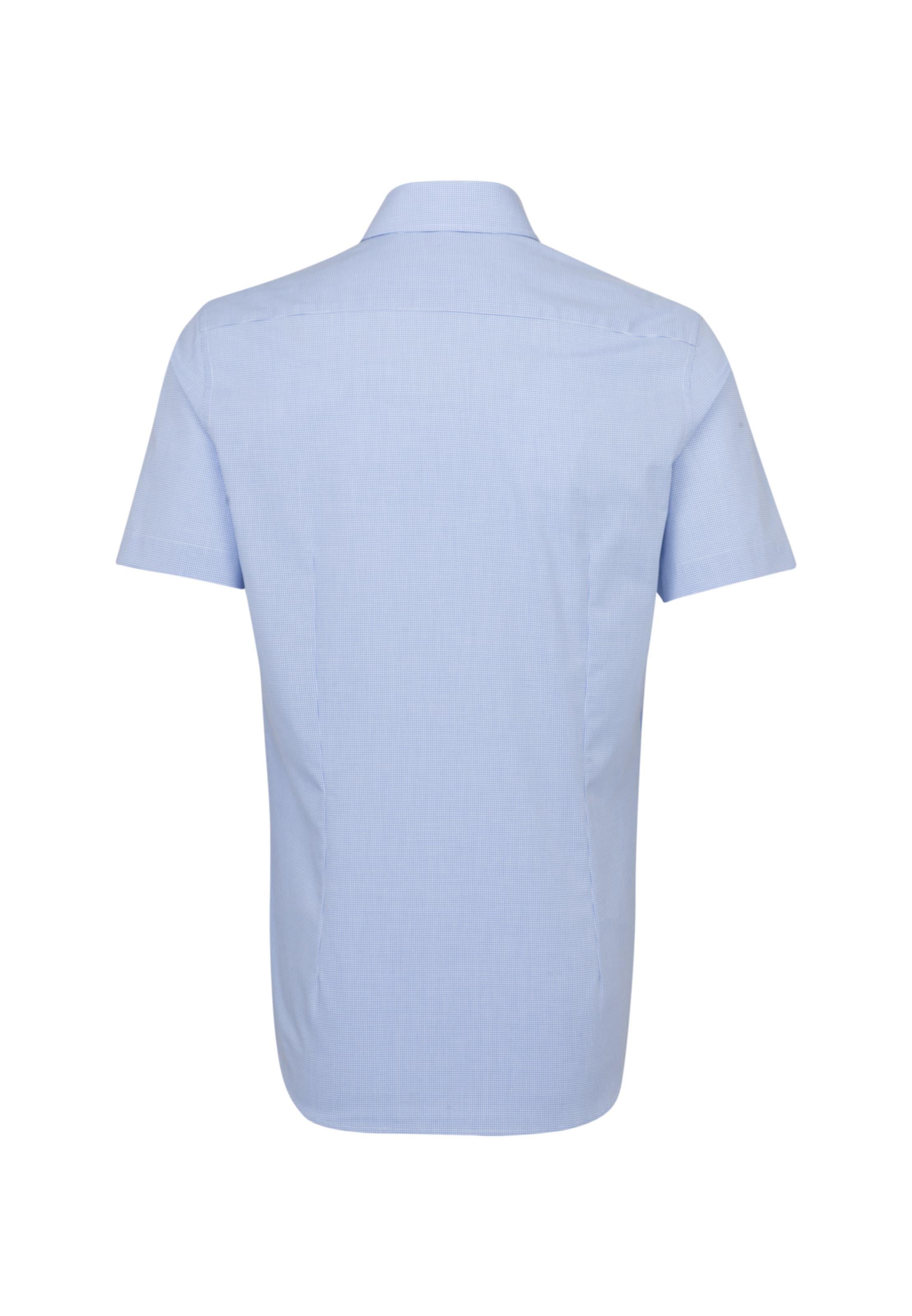 SEIDENSTICKER Business Hemd ' Shaped ' in blau Kariert 01.293759-0013-38