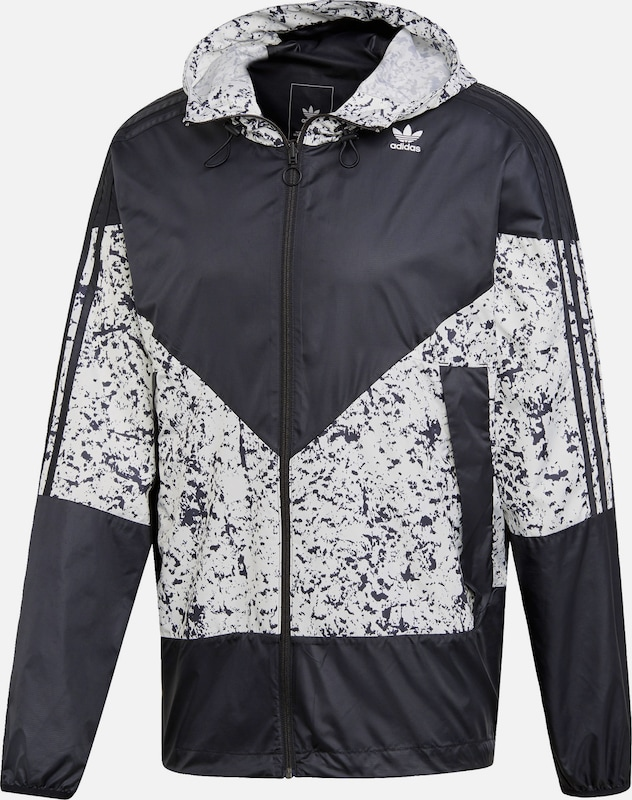 ADIDAS ORIGINALS ORIGINALS ORIGINALS Jacke in hellgrau   schwarz  Mode neue Kleidung 596a74