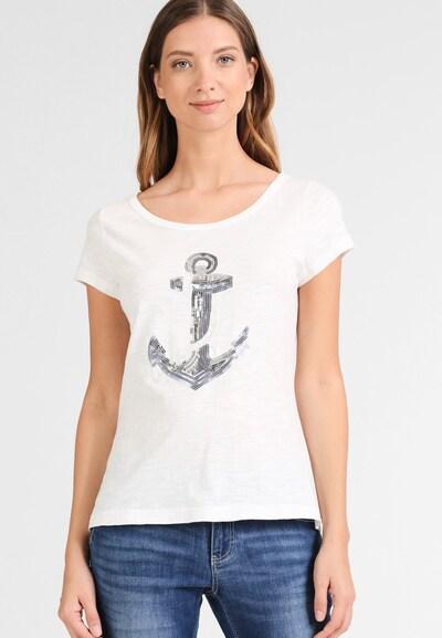 DREIMASTER Damen T-Shirt in weiß: Frontalansicht