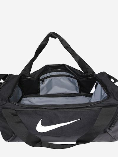 NIKE Sporttasche 'BRSLA S DUFF - 9.0' in schwarz / weiß: Draufsicht