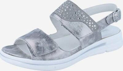 WALDLÄUFER Sandale in grau / silbergrau, Produktansicht