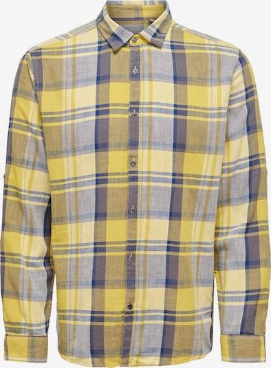 Only & Sons Overhemd in de kleur Duifblauw / Geel, Productweergave