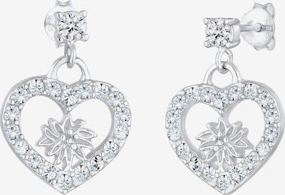 ELLI Oorbellen 'Edelweiss' in de kleur Zilver: Vooraanzicht
