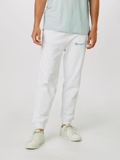 Mennace Pantalon en blanc: Vue de face