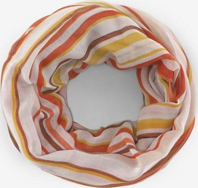 TOM TAILOR Schal in mischfarben / orange / rosa, Produktansicht