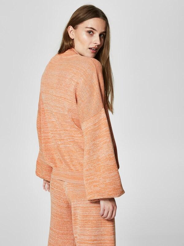 SELECTED FEMME Melange-farbiger Strickpullover