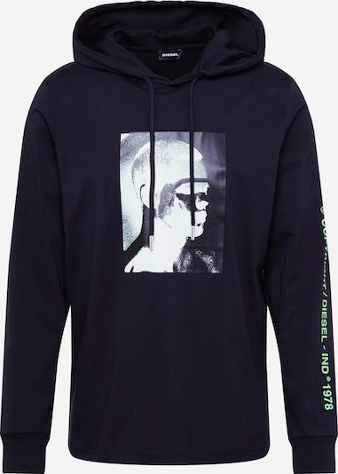 DIESEL Sweat-shirt 'T-JUST-LS-HOOD-J5' en noir, Vue avec produit