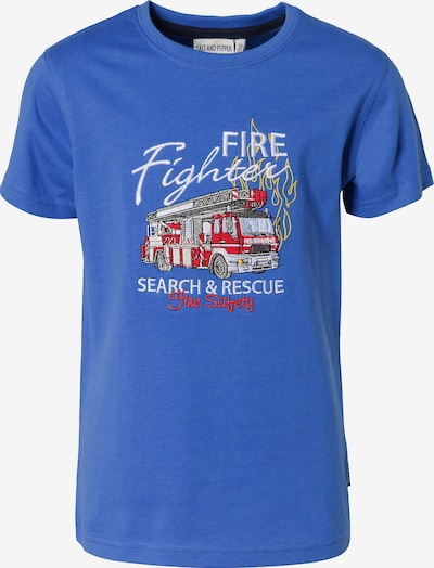 SALT AND PEPPER T-Shirt , Feuerwehr in blau, Produktansicht