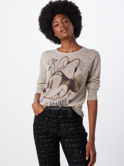PRINCESS GOES HOLLYWOOD Pullover 'It's Minnie' in camel / schwarz, Modelansicht